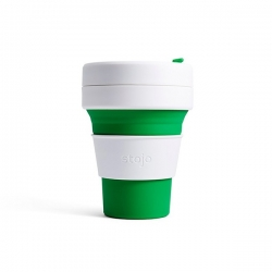 Stojo Pocket Cup 335ml. GREEN