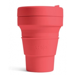 Stojo Pocket Cup 335ml. CORAL